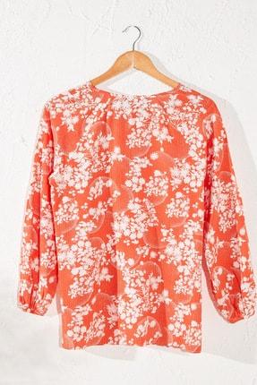 LC Waikiki Kadın  Turuncu   Bluz 0Se048Z8 0