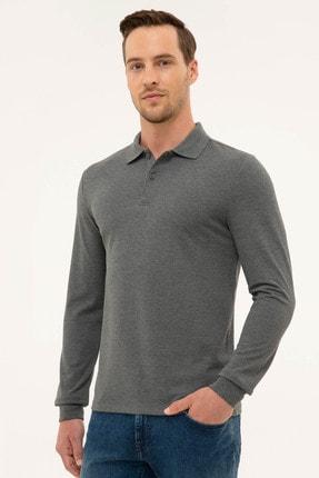 Pierre Cardin Erkek Antrasit Melanj Slim Fit Sweatshirt 2
