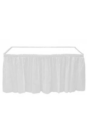 Roll Up Beyaz Plastik Masa Eteği 0