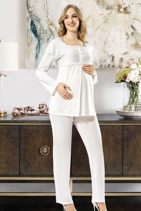 Xses Kadın Beyaz Loğusa 3'lü Takım 2195 1