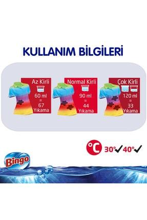 Bingo Renkli Sıvı Bakım Çamaşır Deterjanı 4 lt 2'li 4