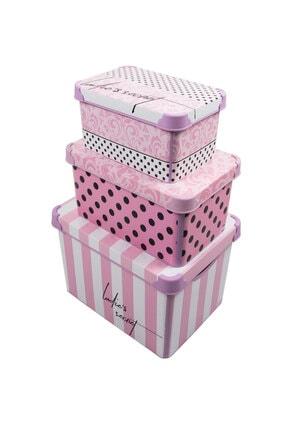 QUTU Style Box Lady's Secret - 3'lü Set Dekoratif Saklama Kutusu 0