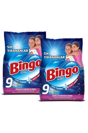 Bingo Matik Toz Çamaşır Deterjanı 9 kg Ekonomi Paketi 2'li 1
