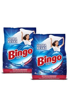 Bingo Matik Toz Çamaşır Deterjanı 4 kg Ultra Beyaz 2'li 1