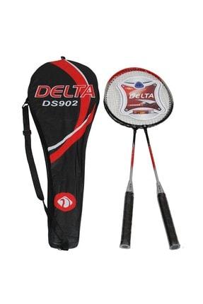 Delta 2 Adet Badminton Raketi Çantalı Çiftli Badminton Seti 0