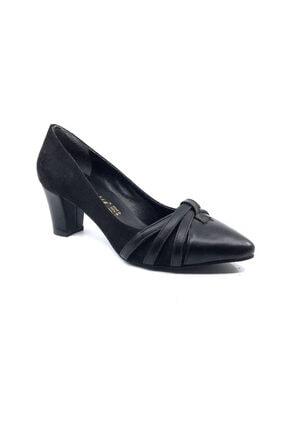 Daisy Kadın Siyah Süet Topuklu Ayakkabısı 1