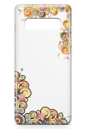 Lopard Samsung Galaxy S10 Kılıf El Işi Süsler Arka Kapak Koruma Desenli Full Koruyucu 1