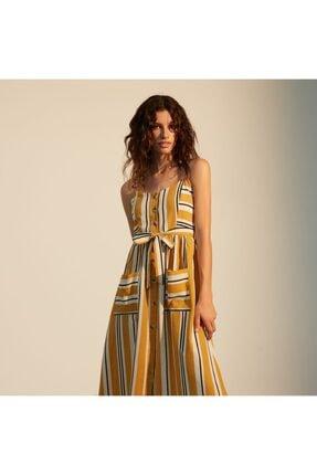 Mudo Kadın Sarı Askılı Kloş Midi Elbise 1217611 2