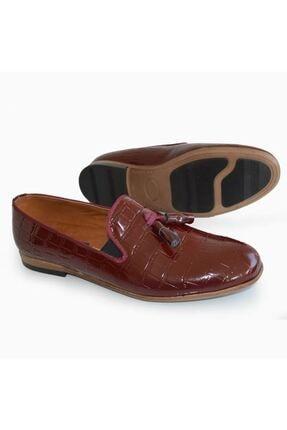 MPP Erkek Bordo Hakiki Deri Rok Günlük Ayakkabı Uzı1501 0
