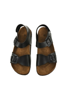 JustBow Unisex Siyah Sandalet 3