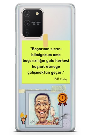 Lopard Samsung Galaxy A91 Kılıf Caps Bill Cosby Arka Kapak Koruma Desenli Full Koruyucu 0