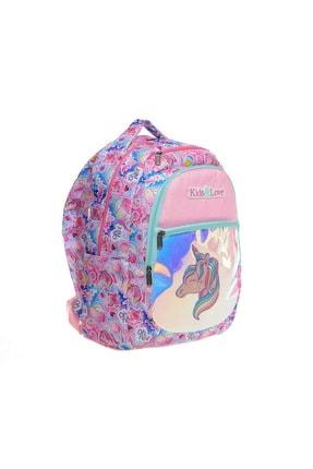 Kaukko Kids & Love Unicorn Okul Çantası 40x25x17 Cm Aynalı (l5018) 1