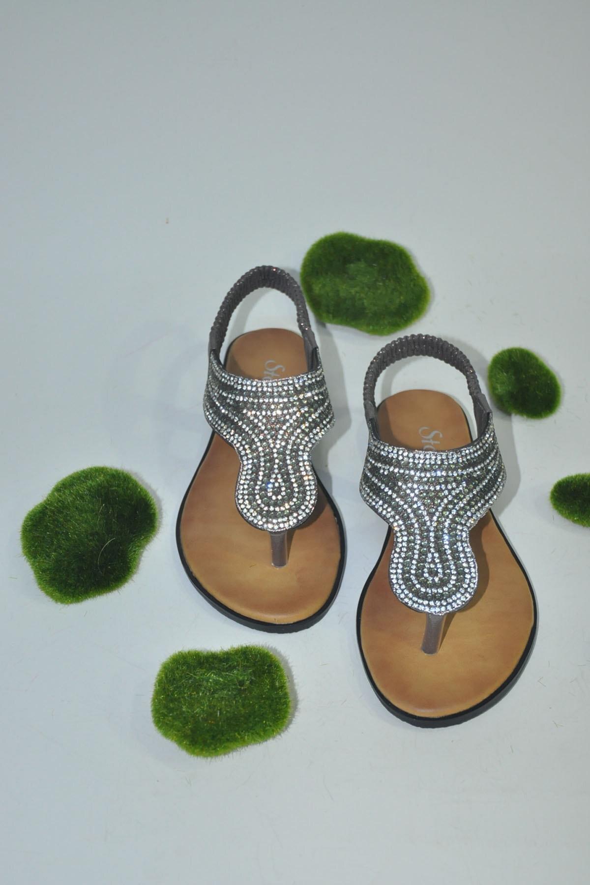 Stocks Shoes Kadın Platin Edına Sandalet