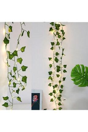 GLR Dekoratif Yeşil Yapraklı Yapay Sarmaşık Gün Işığı (sıcak Sarı) Led Işık, 2,3 mt 30 Led 0