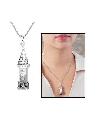 Tesbihgram Galata Kulesi Tasarım 925 Ayar Gümüş Cevşen Kolye 1