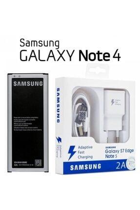 Samsung Galaxy Note 4 Batarya + Hızlı Şarj Aleti Cihazı N910 0