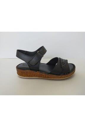 İpekçe Home Kız Çocuk Siyah Bantlı Sandalet 1