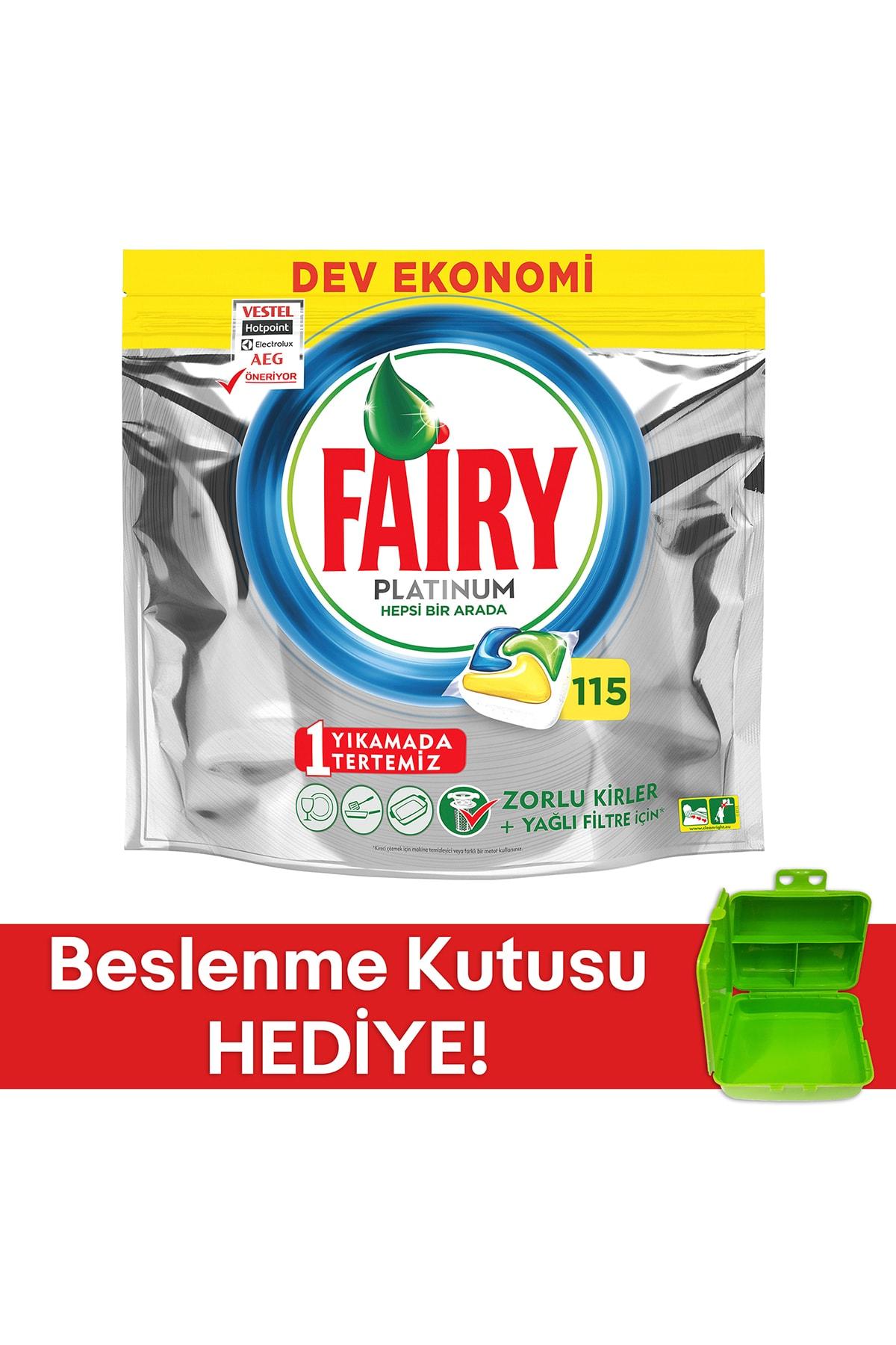 Fairy Platınum 115 Yıkama Bulaşık Makinesi Kapsul Limon Kokulu (beslenme Kutusu Hediye) 1