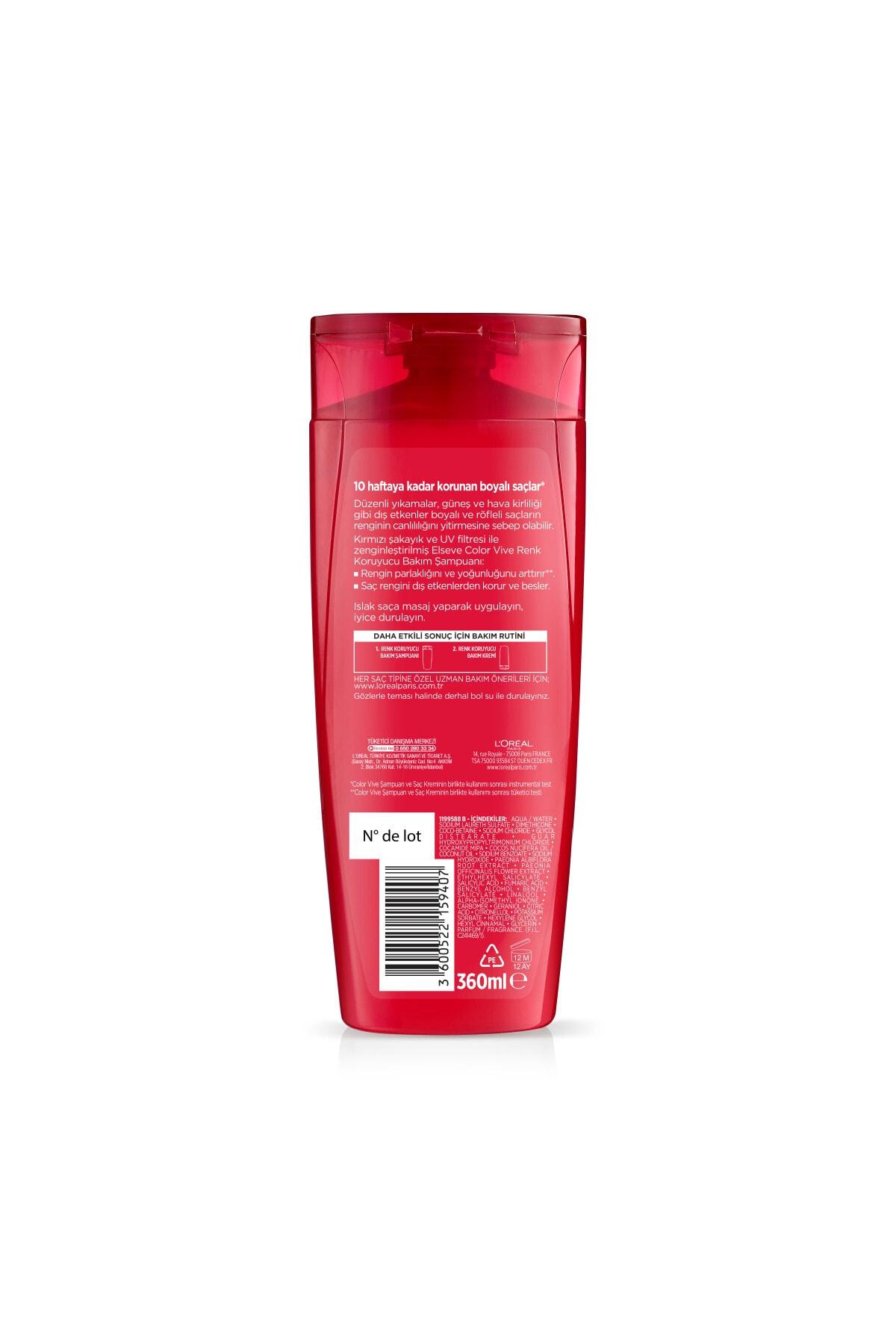 Elseve Renk Koruyucu ve Nemlendirici Şampuan 360 ml 2
