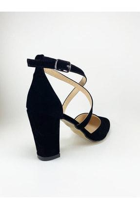 Daisy Kadın Siyah Çapraz Bantlı Topuklu Ayakkabı 3