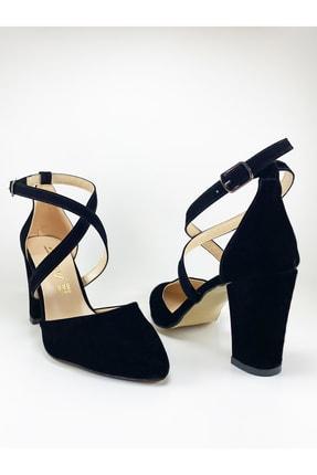 Daisy Kadın Siyah Çapraz Bantlı Topuklu Ayakkabı 4