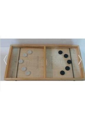 PRATIKMAGAZAM Speedy Disk Hızlı Tahta Şut Ve Gol Oyunu Pullu Oyuncak 1