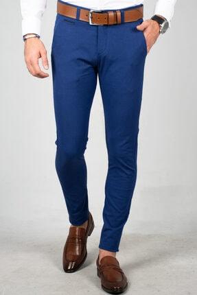 DeepSea Saks Mavi Erkek Kumaş Pantolon - İtalyan Kesim 1805010 1