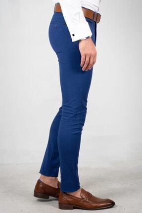 DeepSea Saks Mavi Erkek Kumaş Pantolon - İtalyan Kesim 1805010 2