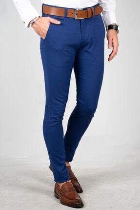 DeepSea Saks Mavi Erkek Kumaş Pantolon - İtalyan Kesim 1805010 3