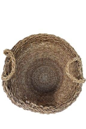 PANALI Naturel Kulplu Hasır Sepet Büyük Bdh14-l 1