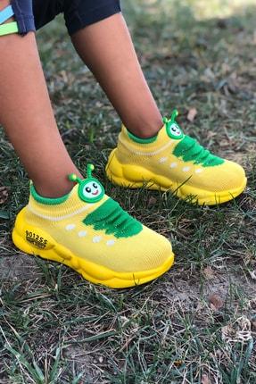 Mk Claws Unisex Sarı Ortopedik Hafif Yumuşak Çocuk Spor Ayakkabı 0