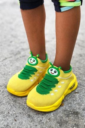 Mk Claws Unisex Sarı Ortopedik Hafif Yumuşak Çocuk Spor Ayakkabı 1