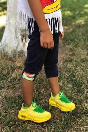 Mk Claws Unisex Sarı Ortopedik Hafif Yumuşak Çocuk Spor Ayakkabı 2