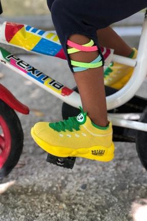 Mk Claws Unisex Sarı Ortopedik Hafif Yumuşak Çocuk Spor Ayakkabı 3