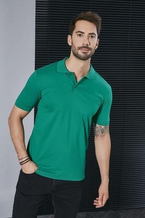 Sateen Men Erkek Koyu Yeşil Polo Yaka Slimfit T-Shirt STN844ETS111 1