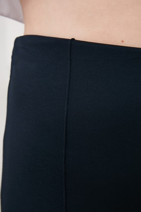 TRENDYOLMİLLA Lacivert Flare Örme Pantolon TWOSS20PL0342 2