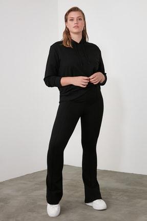 TRENDYOLMİLLA Siyah Flare Örme Pantolon TWOSS20PL0342 3
