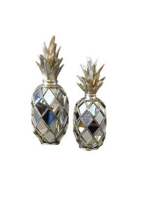 BLZ Home Gümüş Aynalı Ananas Seti 0