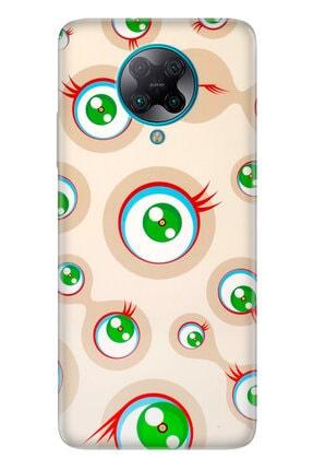 Cekuonline Xiaomi Pocophone F2 Pro Kılıf Temalı Resimli Silikon Telefon Kapak - Gözler 0