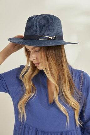 C&City Syt Kadın Hasır Şapka Y2730-57 Lacivert 1