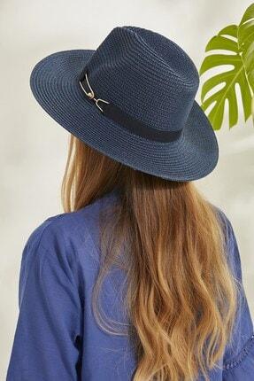 C&City Syt Kadın Hasır Şapka Y2730-57 Lacivert 2