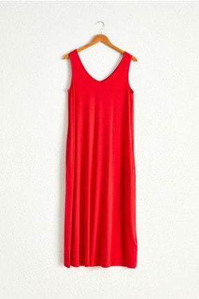 LC Waikiki Kadın Kırmızı Elbise 0WCU28Z8 0