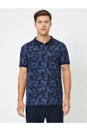 Koton Erkek Lacivert Polo Yaka T-Shirt 0YAM11980LK 2