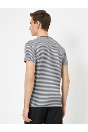 Koton Erkek Gri Cep Detaylı T-Shirt 3