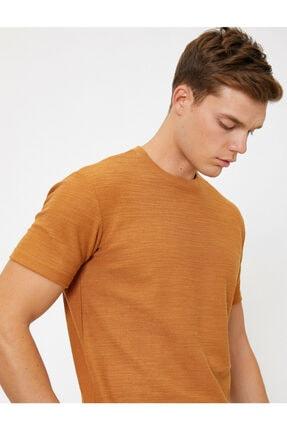 Koton Erkek Kahverengi T-Shirt 0YAM14011OK 0