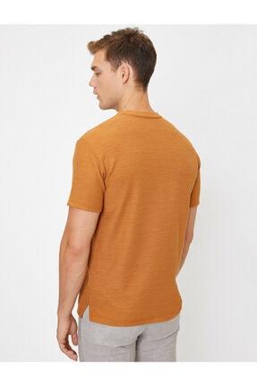 Koton Erkek Kahverengi T-Shirt 0YAM14011OK 3