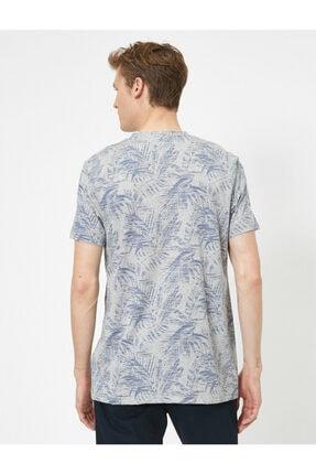 Koton Erkek Gri Desenli T-Shirt 3