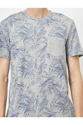 Koton Erkek Gri Desenli T-Shirt 4