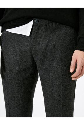 Koton Erkek Gri Cep Detaylı Pantolon 4