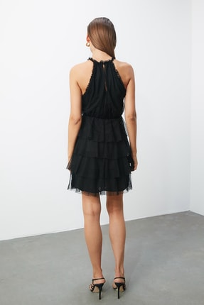 TRENDYOLMİLLA Siyah Halter Yaka Elbise TPRSS20EL0357 3